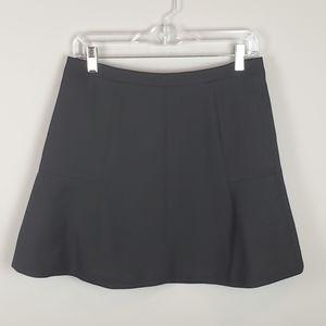 J CREW Black Flared Tulip Skirt